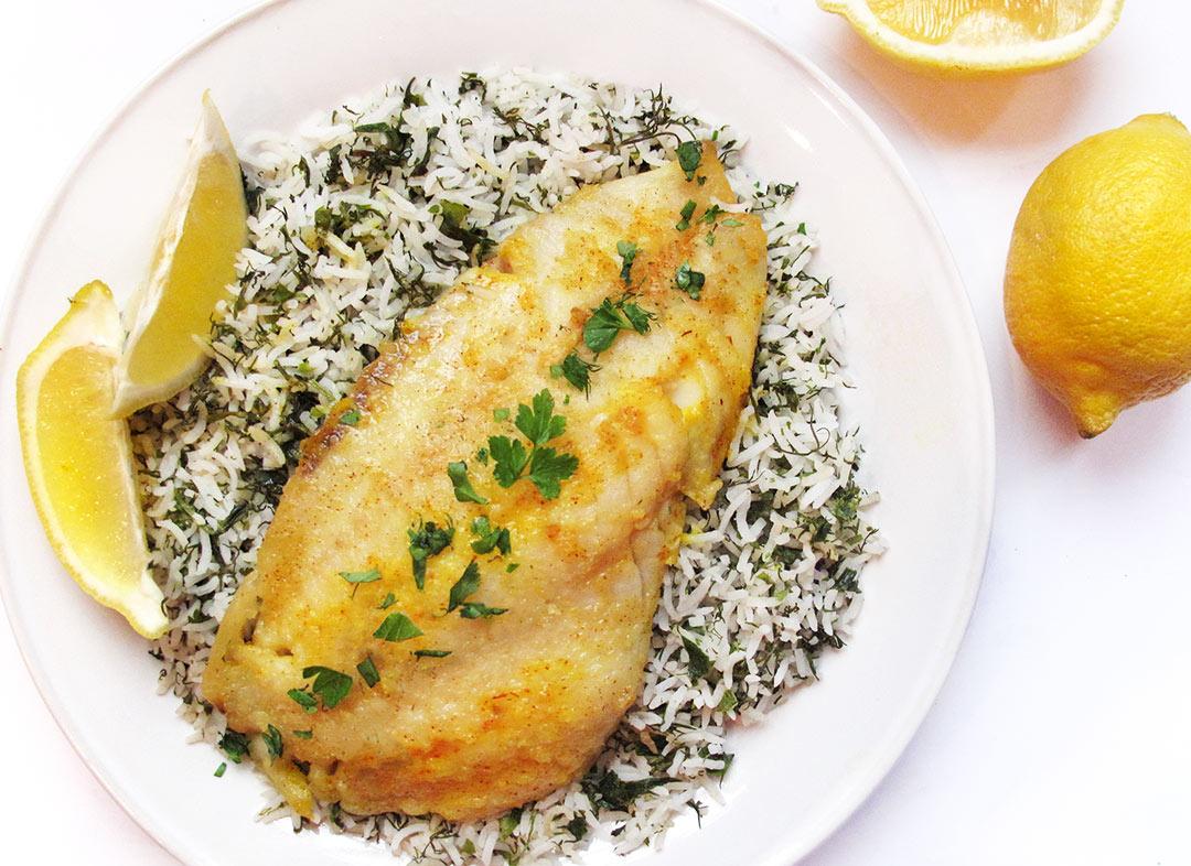 شوید پلو با ماهی